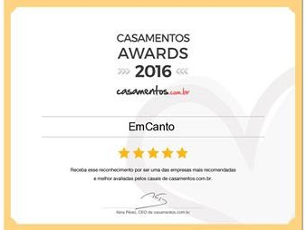 Casamentos Awards 2016 - Orquestra EmCanto